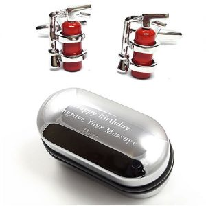 Fire Extinguisher Cufflinks - Christmas gift guide