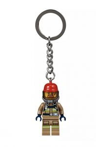 Lego firefighter keyring - Christmas gift guide